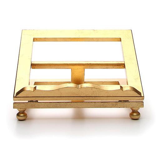 Estante mesa folha ouro 35x40 cm 1