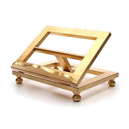 Estante mesa folha ouro 35x40 cm 2