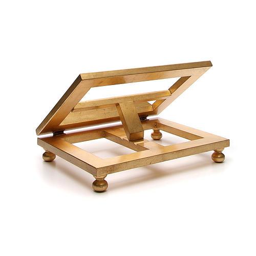 Estante mesa folha ouro 35x40 cm 3