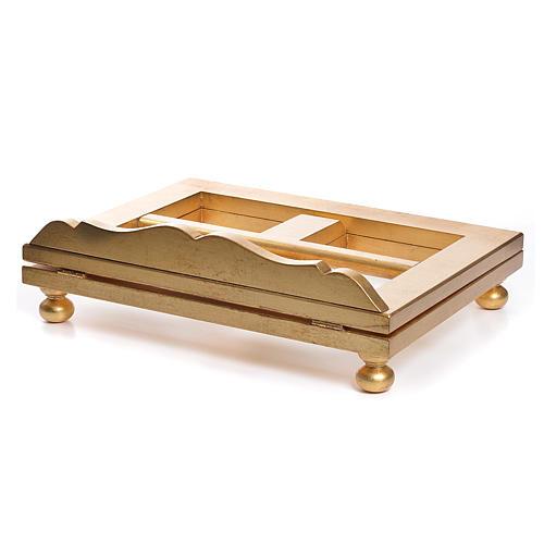 Estante mesa folha ouro 35x40 cm 5