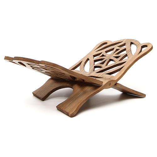 Book stand in Italian walnut wood, simple model, Bethlehem monks 3