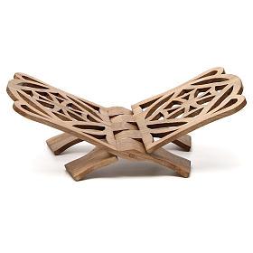 Atril de eucaristía madera nogal italiana tallada Monjes Belén s1