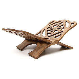 Atril de eucaristía madera nogal italiana tallada Monjes Belén s3