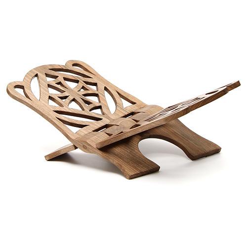 Atril de eucaristía madera nogal italiana tallada Monjes Belén 2