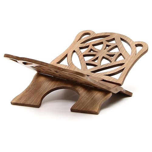 Atril de eucaristía madera nogal italiana tallada Monjes Belén 4