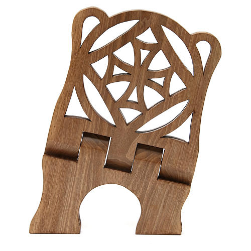 Atril de eucaristía madera nogal italiana tallada Monjes Belén 5