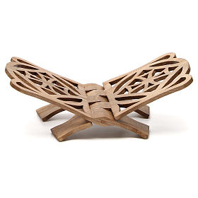 Book stand in Italian walnut wood, simple model, Bethlehem monks s1