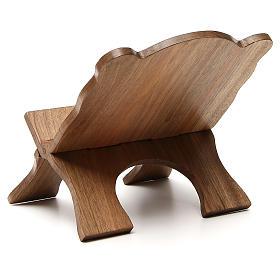 Missal stand in Italian walnut wood, simple model, Bethlehem monks s3