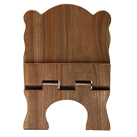 Missal stand in Italian walnut wood, simple model, Bethlehem monks s5