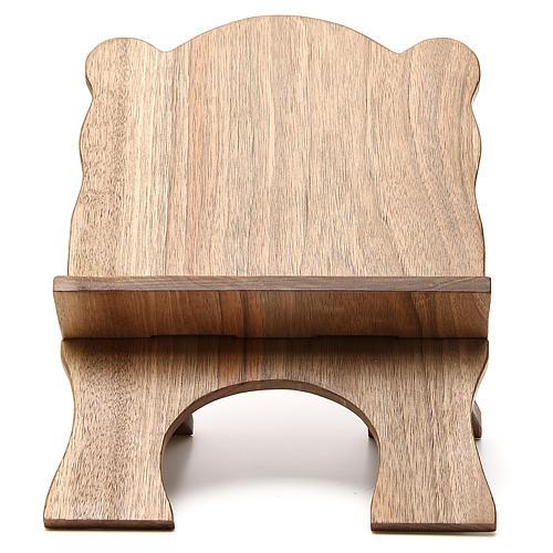 Missal stand in Italian walnut wood, simple model, Bethlehem monks 1