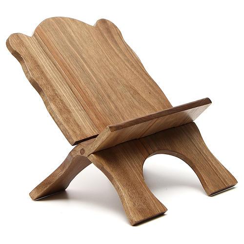 Missal stand in Italian walnut wood, simple model, Bethlehem monks 4