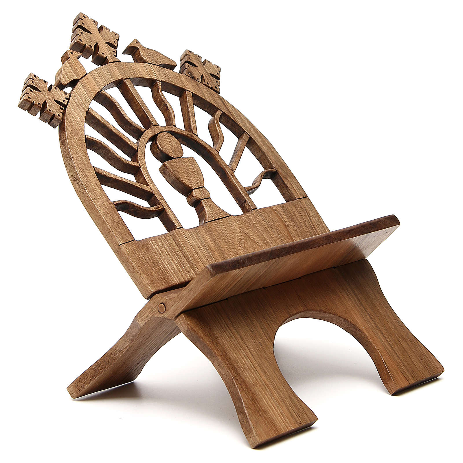 Book stand hand carved by the Bethlehem monks in Europena walnut wood 4