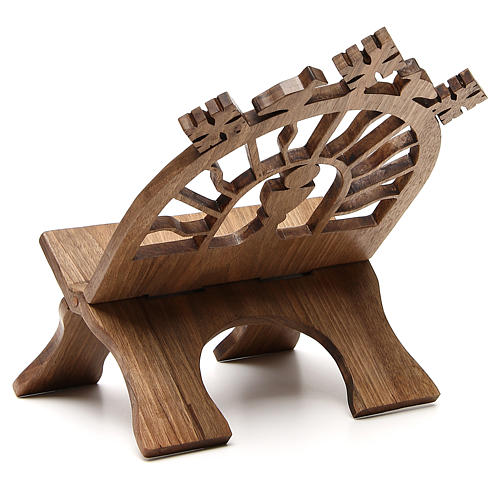 Book stand hand carved by the Bethlehem monks in Europena walnut wood 3