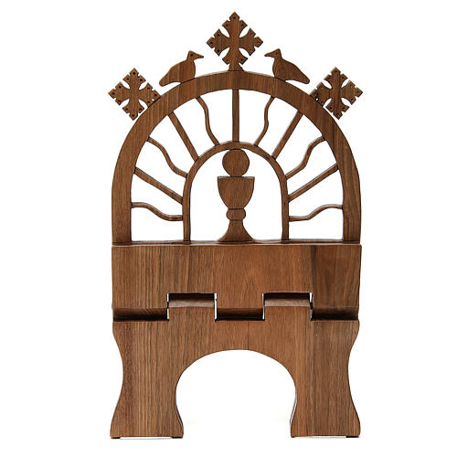 Book stand hand carved by the Bethlehem monks in Europena walnut wood 6