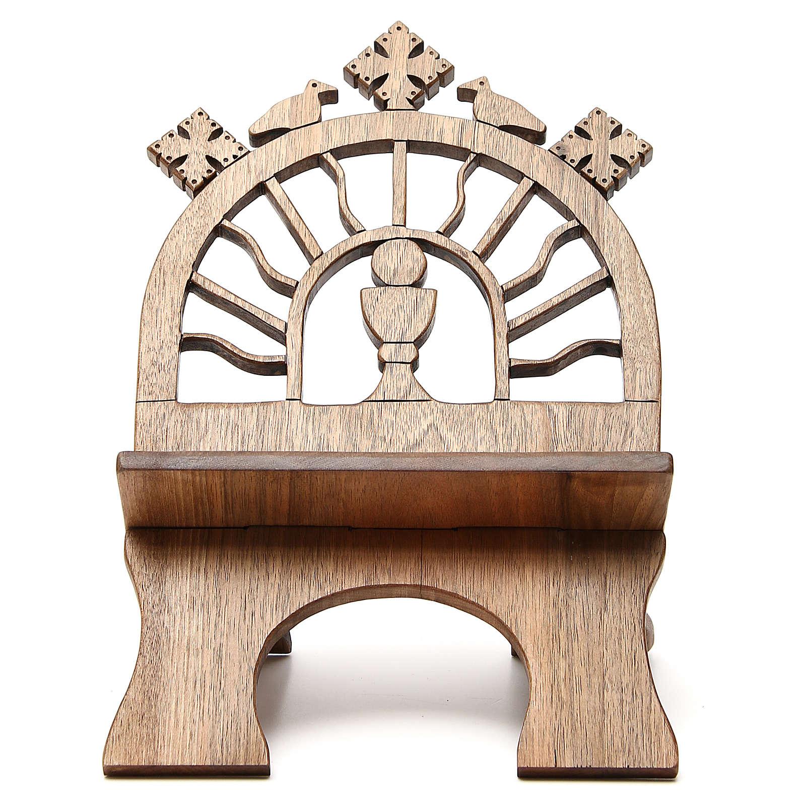 Leggio tavolo scolpito noce italiano monaci Betlemme 4