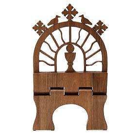 Leggio tavolo scolpito noce italiano monaci Betlemme s6