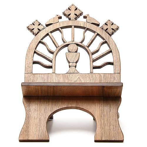 Leggio tavolo scolpito noce italiano monaci Betlemme 1