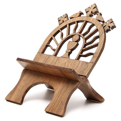 Leggio tavolo scolpito noce italiano monaci Betlemme 2