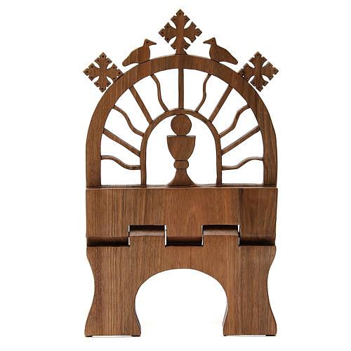 Leggio tavolo scolpito noce italiano monaci Betlemme 6