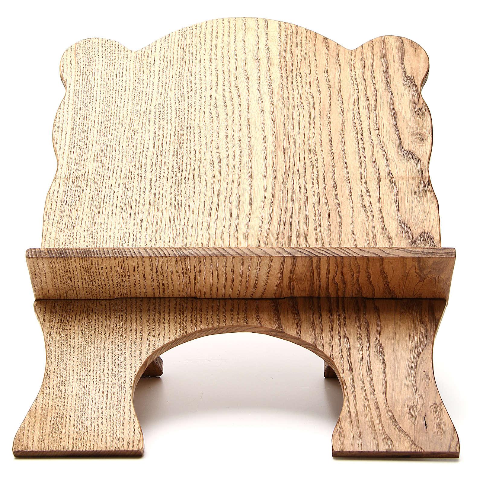 Leggio tavolo frassino chiaro semplice Monaci Betlemme 4