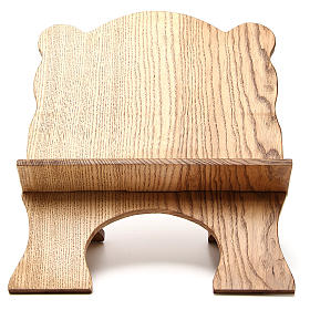 Book stand in white ash wood, simple model, hand carved by the Bethlehem monks s1