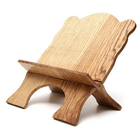 Book stand in white ash wood, simple model, hand carved by the Bethlehem monks s2