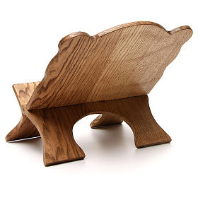 Book stand in white ash wood, simple model, hand carved by the Bethlehem monks s3