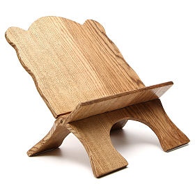 Book stand in white ash wood, simple model, hand carved by the Bethlehem monks s4