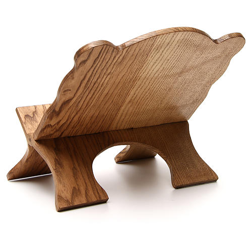 Book stand in white ash wood, simple model, hand carved by the Bethlehem monks 3