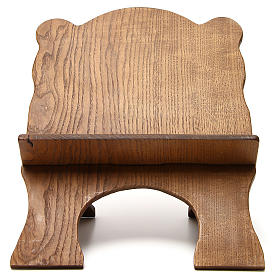 Book stand in black ash wood, simple model, hand carved by the Bethlehem monks s1