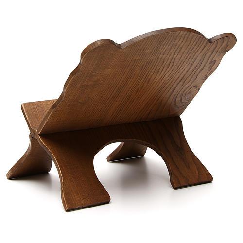 Atril de mesa madera de fresno oscuro Monjes de Belén 3