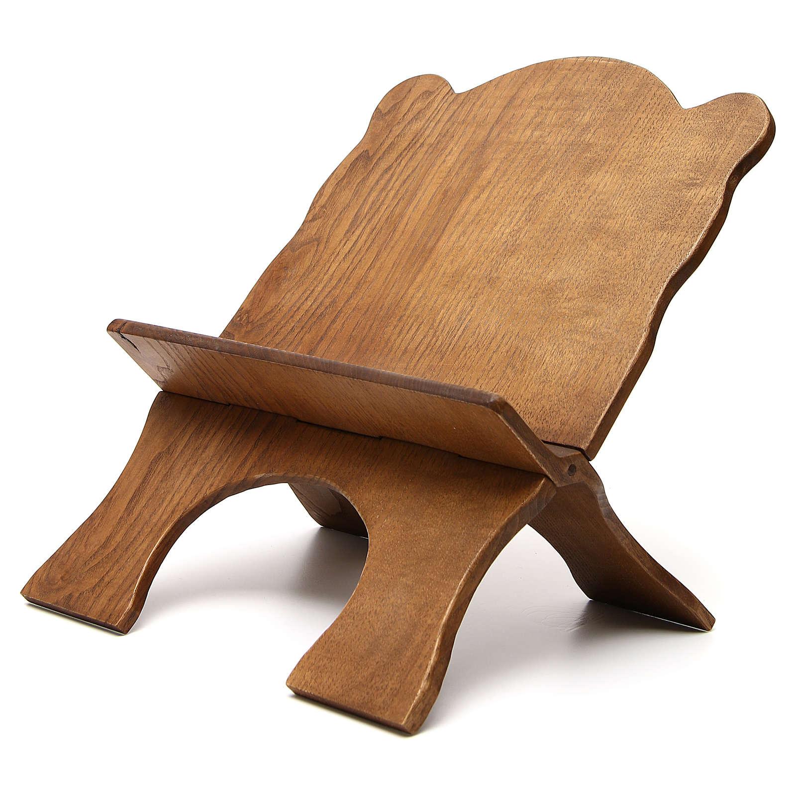 Leggio tavolo frassino scuro semplice Monaci Betlemme 4