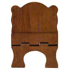 Book stand in black ash wood, simple model, hand carved by the Bethlehem monks s5