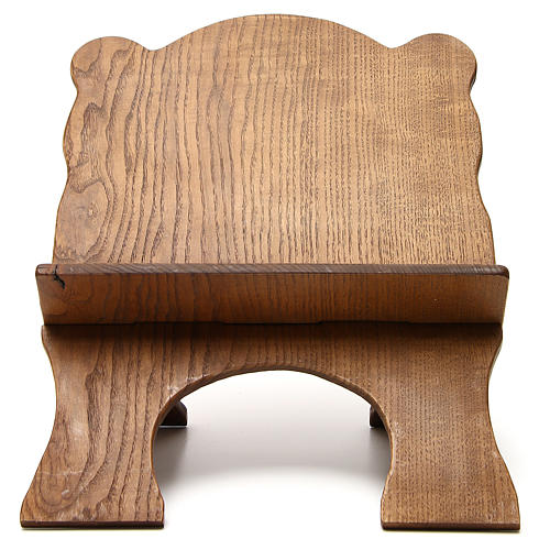 Book stand in black ash wood, simple model, hand carved by the Bethlehem monks 1