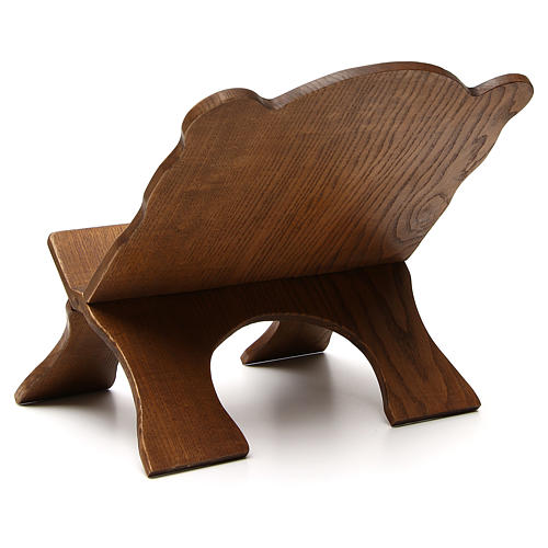 Book stand in black ash wood, simple model, hand carved by the Bethlehem monks 3