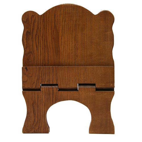 Book stand in black ash wood, simple model, hand carved by the Bethlehem monks 5