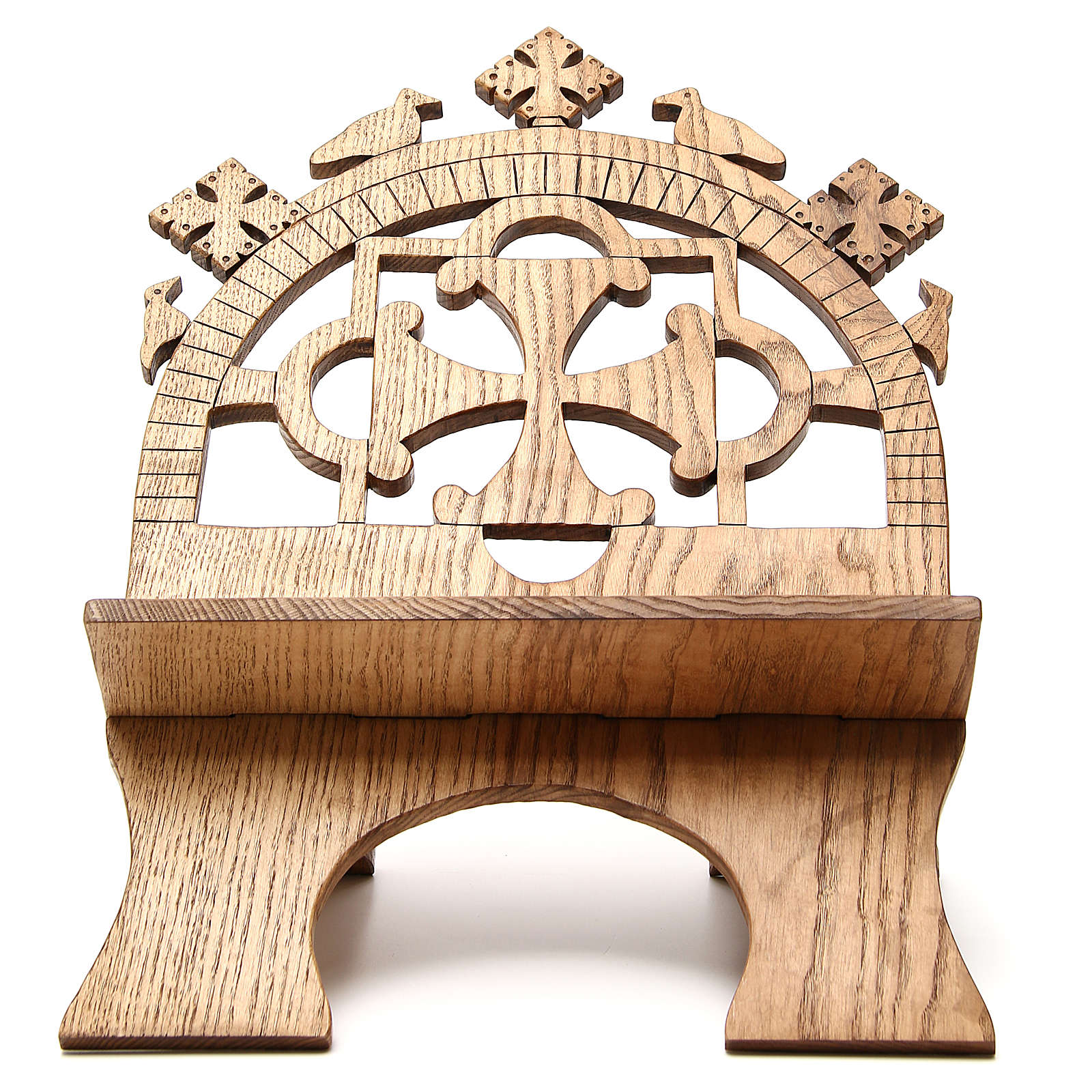 Book stand hand carved by the Bethlehem monks in white ash wood 4