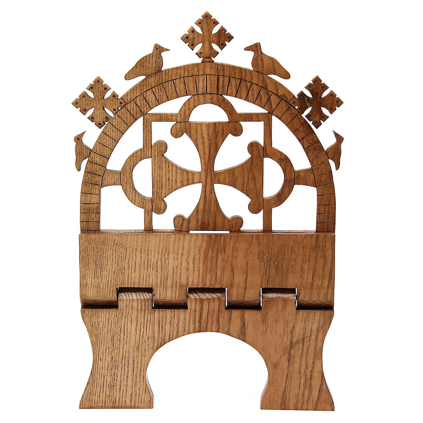 Pupitre autel frêne sculpté Moines Bethéelem 4