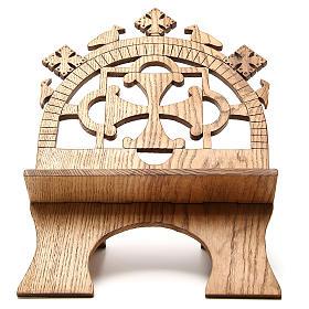 Pupitres de lecture: Pupitre autel frêne sculpté Moines Bethéelem