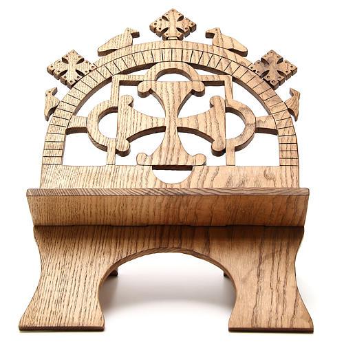 Pupitre autel frêne sculpté Moines Bethéelem 1