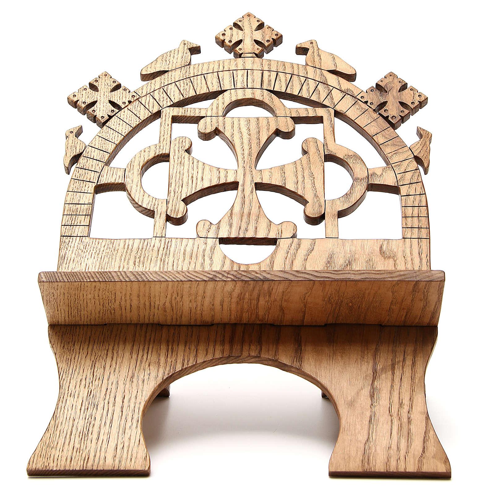 Leggio tavolo frassino scolpito Monaci Betlemme 4