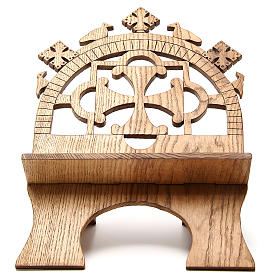 Leggio tavolo frassino scolpito Monaci Betlemme s1