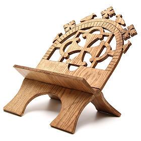 Leggio tavolo frassino scolpito Monaci Betlemme s2