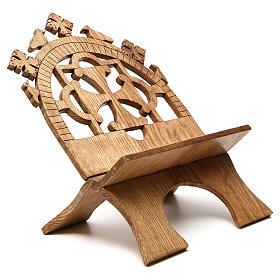 Leggio tavolo frassino scolpito Monaci Betlemme s4
