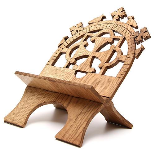 Leggio tavolo frassino scolpito Monaci Betlemme 2