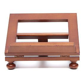Atril de mesa madera de nogal 25x20 cm s1