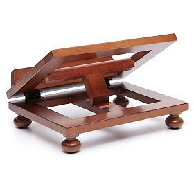 Atril de mesa madera de nogal 25x20 cm s4