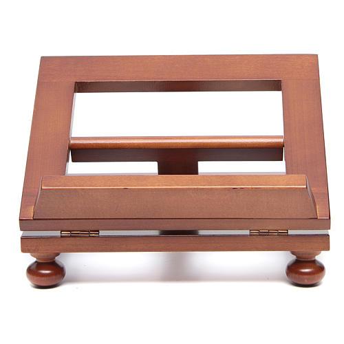 Pupitre de table bois noyer 25x20 cm 1