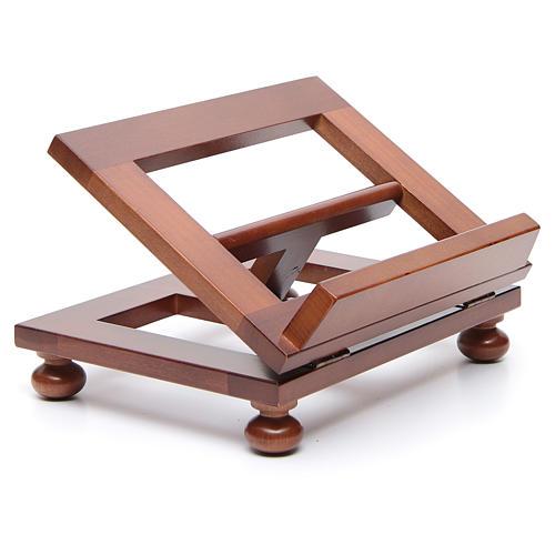 Pupitre de table bois noyer 25x20 cm 3