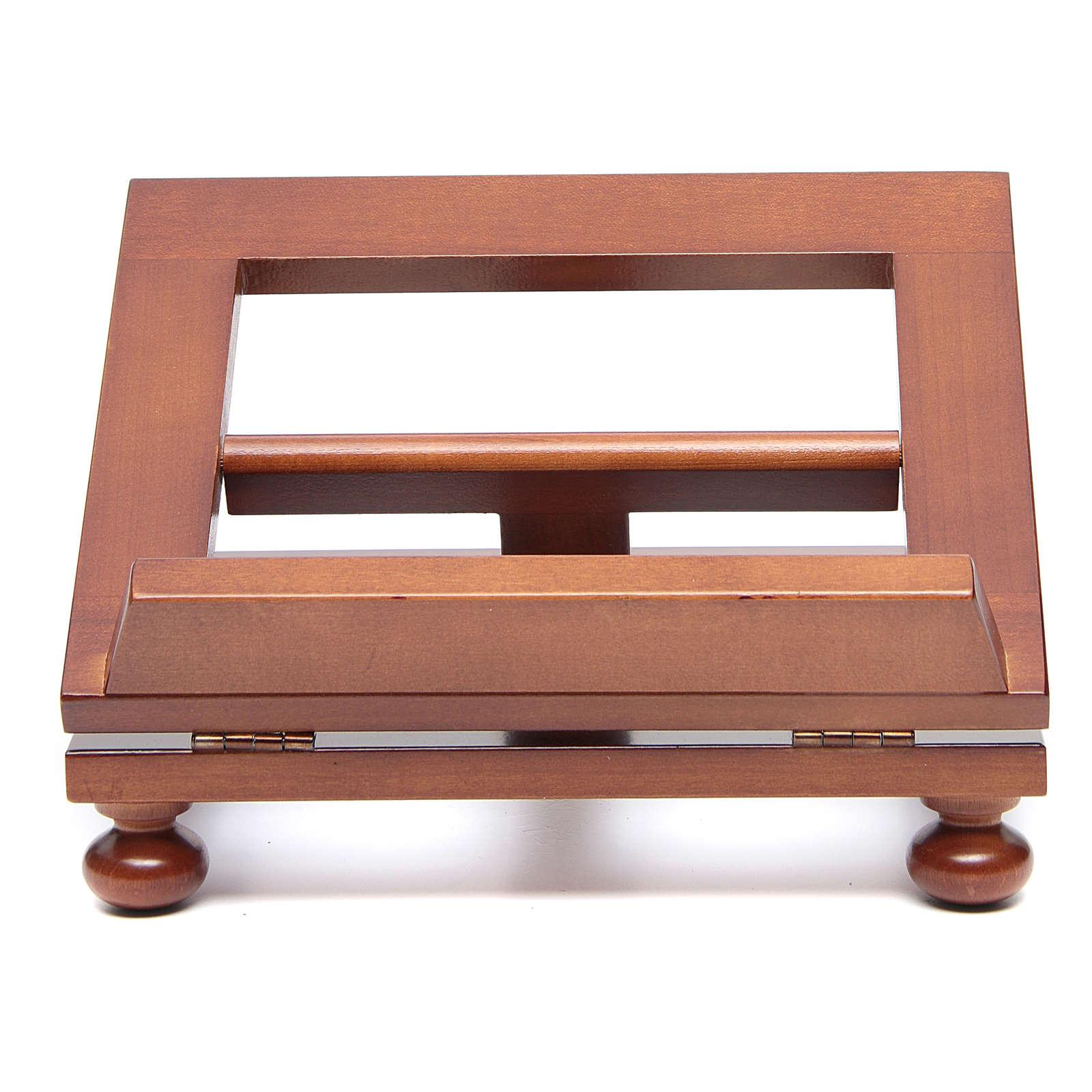 Leggio da tavolo legno noce 25x20 cm 4
